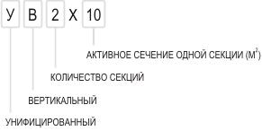 Условное обозначение электрофильтров УВ